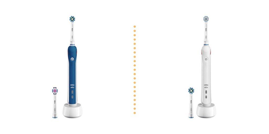 La version bleue et blanche de la Oral-B Pro 2 2700