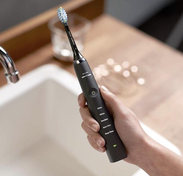L'affichage des modes sur la brosse à dents Philips Sonicare DiamondClean