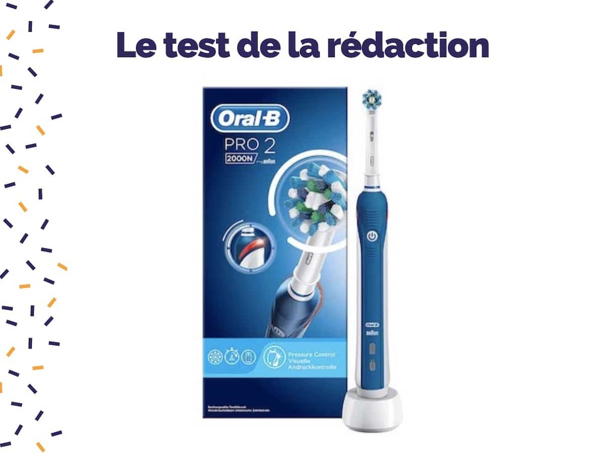 Test de la brosse à dents électrique Oral-B Pro 2 2000N